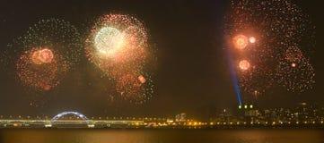 Het vuurwerkfestival van Hangzhou Stock Afbeelding