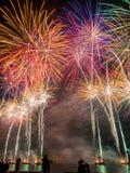 Het Vuurwerkvertoning van de Austrliadag Stock Afbeelding