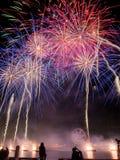 Het Vuurwerkvertoning van de Austrliadag Royalty-vrije Stock Foto's