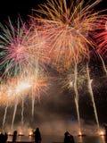 Het Vuurwerkvertoning van de Austrliadag Royalty-vrije Stock Foto
