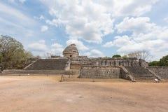 Het Waarnemingscentrum Gr Caracol bij de oude Mayan ruïnes in Chichen Itza, Mexico royalty-vrije stock fotografie