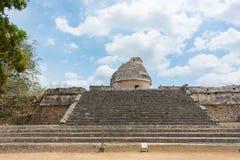 Het Waarnemingscentrum Gr Caracol bij de oude Mayan ruïnes in Chichen Itza, Mexico Stock Foto