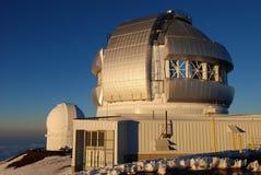 Het Waarnemingscentrum van het Noorden van Tweeling op de top van Mauna Kea Royalty-vrije Stock Afbeelding