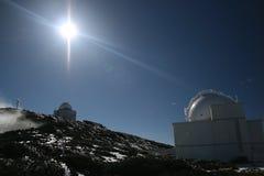 Het Waarnemingscentrum van La Palma Stock Afbeeldingen