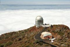 Het Waarnemingscentrum van La Palma Stock Foto