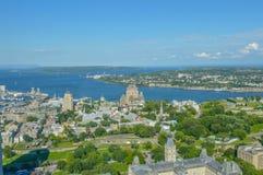 Het waarnemingscentrum van Quebec (stadsmening) Stock Fotografie