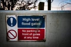 Het waarschuwingsbord van het drainagekanaal Royalty-vrije Stock Fotografie