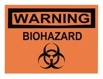 Het Waarschuwingssein van Biohazard stock afbeeldingen