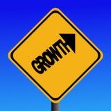 Het waarschuwingssein van de groei vector illustratie