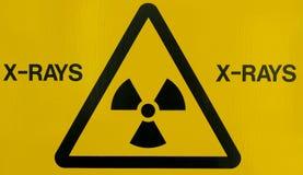 Het waarschuwingssein van de röntgenstraal Royalty-vrije Stock Afbeeldingen