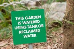Het waarschuwingssein van de tuin royalty-vrije stock foto's
