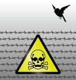 Het waarschuwingssein van het gevaar Stock Foto