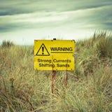 Het waarschuwingssein van het strand stock fotografie