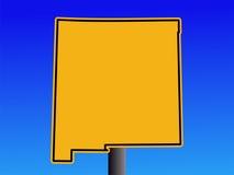 Het waarschuwingssein van New Mexico vector illustratie