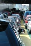 Het wachten auto's Stock Foto's