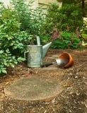Het wachten beginnen tuinierend Stock Foto's