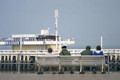 Het wachten door het Overzees stock afbeelding