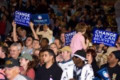 Het wachten op Barack Obama Royalty-vrije Stock Afbeelding
