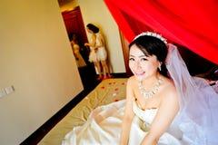 Het wachten op de bruidegom aan de bruid stock fotografie