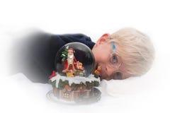 Het wachten op de Kerstman Stock Afbeeldingen