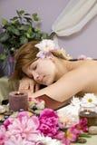 Het wachten op een massage Royalty-vrije Stock Afbeeldingen