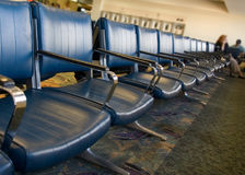Het wachten op een vlucht Royalty-vrije Stock Fotografie