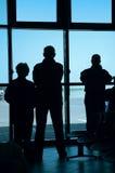 Het wachten op het vliegtuig Royalty-vrije Stock Foto's