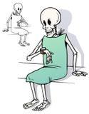 Het wachten op medische hulp Royalty-vrije Stock Afbeeldingen