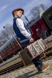 Het wachten op trein Royalty-vrije Stock Foto