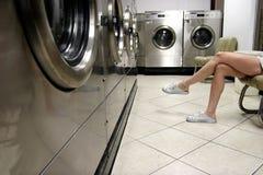 Het wachten op wasserij stock afbeelding