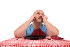 Het wachten op zijn maaltijd royalty-vrije stock fotografie