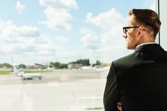 Het wachten op Zijn Vlucht Stock Foto