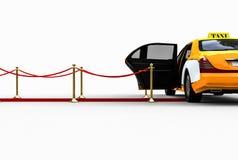 Het wachten taxi vector illustratie