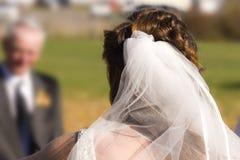 Het wachten van de bruid Stock Foto