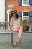 Het wachten van de dame Royalty-vrije Stock Fotografie