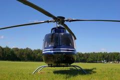 Het wachten van de helikopter Stock Fotografie
