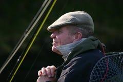 Het wachten van de visser stock fotografie