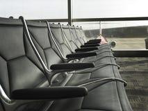 Het Wachtende Gebied van de luchthaven stock afbeeldingen