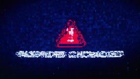 Het wachtwoord chcracked de krampglitch van het tekst digitale lawaai vervormingseffect foutenanimatie royalty-vrije illustratie
