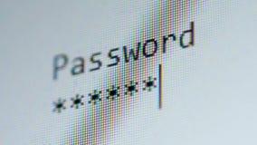 Het wachtwoord die, sluit omhoog binnengaan