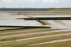 Het Wadden Overzees van Sylt at low tide Royalty-vrije Stock Afbeeldingen