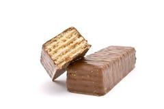 Het Wafeltje van de chocolade stock foto