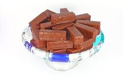 Het wafeltje van de chocolade stock fotografie