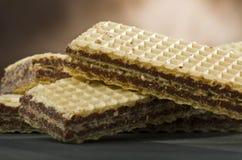 Het wafeltje van de chocolade royalty-vrije stock foto