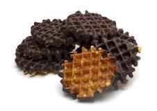 Het wafeltje van de chocolade stock afbeeldingen