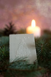 Het wafeltje van Kerstmis stock foto's