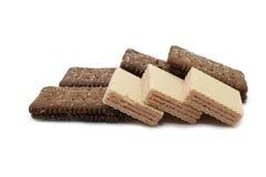 Het wafeltje van koekjes stock foto