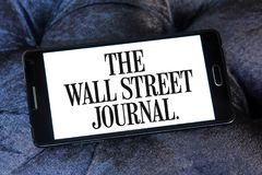 Het Wall Street Journal-Krantenembleem Royalty-vrije Stock Foto