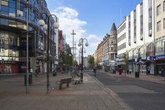 Het wandelen van wegen en straten de de Van de binnenstad van Belfast Royalty-vrije Stock Fotografie