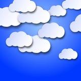 Het wandelen wolken stock illustratie